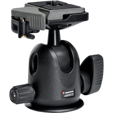 Manfrotto 496RC2 Compact Ball Head With RC2 QR Plate