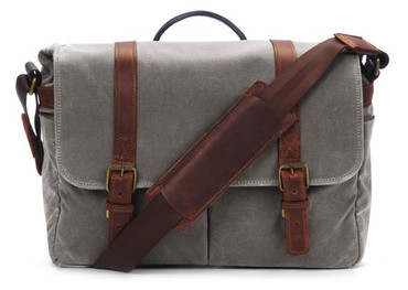 ONA Brixton Camera/Laptop Messenger Bag (Smoke)