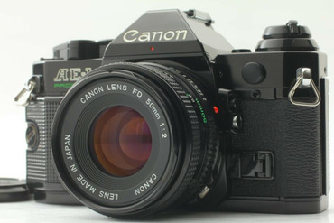 Pre-Owned - Canon AE-1 Black W/50MM 2.0 FD lens