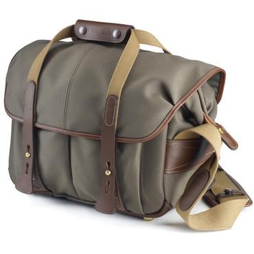 Billingham  307 Shoulder Bag (Sage with Chocolate Leather)