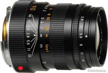 Pre-Owned Leica Elmarit-M 90MM F/2.8 (Black) 11807 Made In Canada