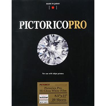 """Pictorico Pro Hi-Gloss White Film for Inkjet Printing (8.5 x 11"""", Letter)"""