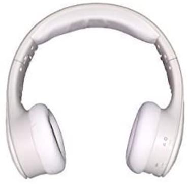 NUVU Reverse - 2-Way Wireless Bluetooth On-Ear Headphones & External Speaker Stereo System - White