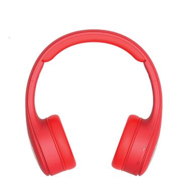 NUVU Reverse - 2-Way Wireless Bluetooth On-Ear Headphones & External Speaker Stereo System - Red