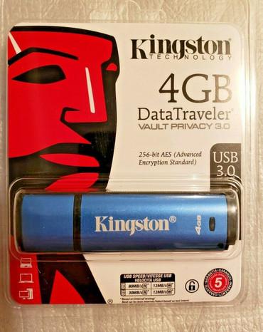 Kingston Digital 4GB Data Traveler AES Encrypted Vault Privacy 256Bit 3.0 USB