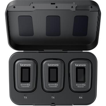 Saramonic Blink 500 Pro B2 2-Person Digital Camera-Mount Wireless Omni Lavalier Microphone System (2.4 GHz, Black)