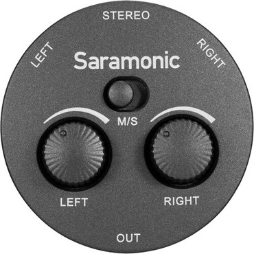 Saramonic AX1 Passive 2-Channel Audio Mixer for Cameras, Smartphones, Tablets, and Computers
