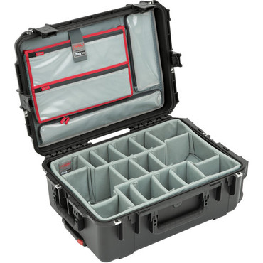 SKB iSeries 2215-8 Waterproof Utility Case with Wheels, Think Tank Photo Dividers, and Lid Organizer (Black)