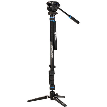 Benro Connect Video Monopod with S2 Pro Flat Base Fluid Video Head
