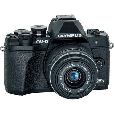 Olympus OM-D E-M10 Mark IIIs Mirrorless Digital Camera with 14-42mm II R Lens (Black)