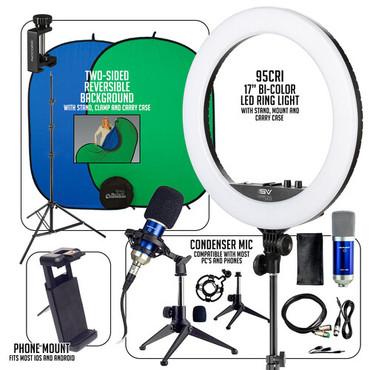 Smith-Victor Expert Smartphone / Ring Light Desktop Work-From-Home AV Kit