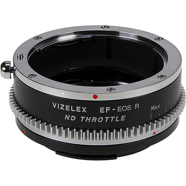 Vizelex Cine ND Throttle Lens Mount Adapter from Fotodiox Pro Compatible with Canon EOS (EF / EF-S) D/SLR Lenses to Canon RF Mount Mirrorless Camera Body with Built-In Variable ND Filter (2 to 8 Stops)