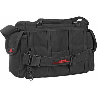 Domke F-7 Double AF Canvas Shoulder Bag - for 2 Large Film or Digital SLR Cameras with 4-5 Lenses and Accessories (Black)