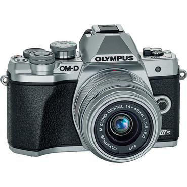 Olympus OM-D E-M10 Mark IIIs Mirrorless Digital Camera with14-42mm II R Lens, Silver