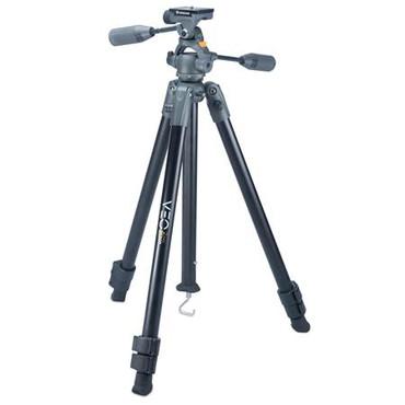 "Vanguard VEO 2 PRO 263APV Photo Video Kit, 3-Section Aluminum Tripod with PH-38 Pan Head, 59"" Maximum Height, 13.2 lb Capacity, Black"