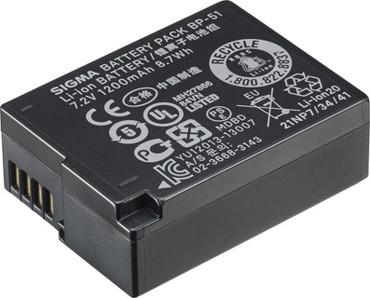 Sigma Li-ion Battery BP-51 for dp2 Quattro Cameras