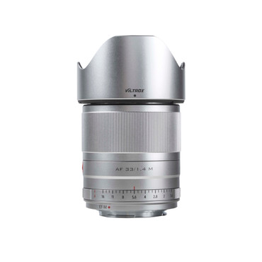 Vilrox 33mm f/1.4 STM lens for Canon EF-M Silver