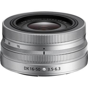 Nikon NIKKOR Z DX 16-50mm f/3.5-6.3 VR Lens (Silver)