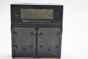 Pre-Owned Kastar LCD Dual Smart Battery Charger for Canon BP808, BP827, BP828