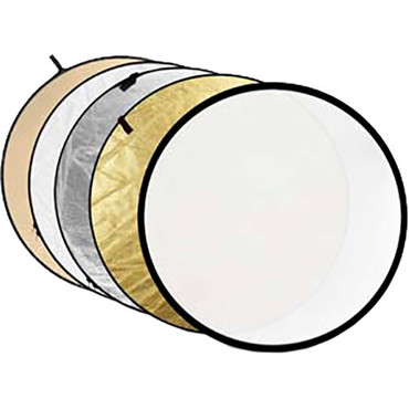 """Godox Collapsible 5-In-1 Reflector Disc (32"""", Gold/Silver/Soft Gold/White/Translucent)"""