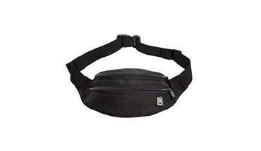 BlackRapid Waist Pack with 2 Zippered Pockets & Adjustable Belt Black