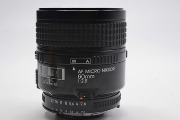 """Pre-Owned - Nikon AF FX 60mm F/2.8 Micro ( Not a """"D"""" lens)"""