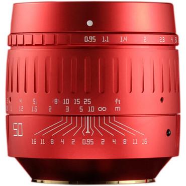 TTArtisan 50mm f/0.95 Lens for Leica M-Mount (Red)