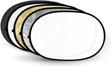 """Godox Pro Studio 5-in-1 Collapsible 100x150cm / 40""""x60"""" Oval Reflector Disc"""