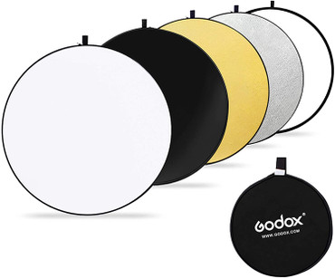 """GODOX 43"""" 110cm 5-in-1 Collapsible Round Portable Disc Light Reflector"""