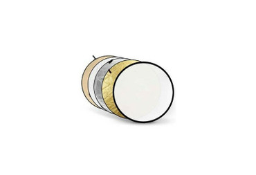 """Godox Collapsible 5-In-1 Reflector Disc (24"""", Gold/Silver/Soft Gold & Silver/White/Translucent)"""