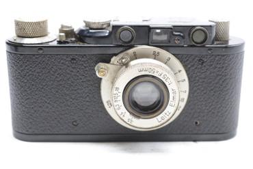 Pre-Owned - Leica II BLACK (1932) (SN: 81697) (Total Made: 29,801) w/ Elmar 50mm (~5CM) F/3.5 Lens