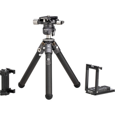 Benro TablePod Pro Kit Carbon Fiber Tripod and Ball Head with ArcaSmart 70mm Smartphone Adapter Plate