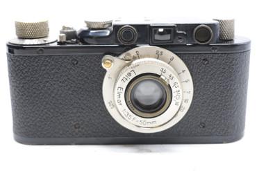 Pre-Owned Leica II BLACK (1932) (SN:91985) (Total Made: 29,801)  w/ Elmar 50mm F/3.5 Lens (SN: 95166)