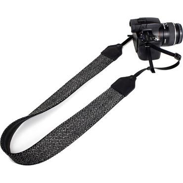 "Perri's Leathers Ltd. 2"" Wool Fabric Camera Strap (Gray/White)"
