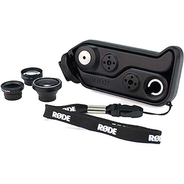 Rode RODEGrip Plus Multi-Purpose Mount and Lens Kit for iPhone 4/4S - Retail Packaging - Black