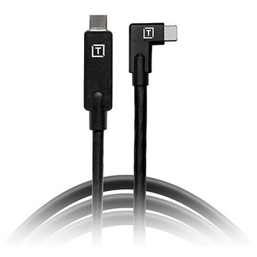 Tether Tools TetherPro USB Type-C Male Right Angle to USB Type-C Male Cable (15', Black)
