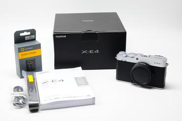 Pre-Owned FUJIFILM X-E4 Mirrorless Digital Camera (Body Only, Silver)