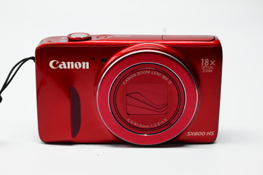 Pre-Owned Canon PowerShot SX600 HS Digital Camera (Red)