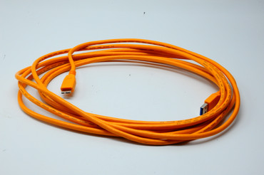 Pre-Owned Tether Tools 15' TetherPro USB 3.0 Male A to Micro-B Cable (Hi-Visibility Orange)