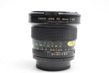 Pre-Owned - Canon 20mm F2.8 FD Mount for film cameras