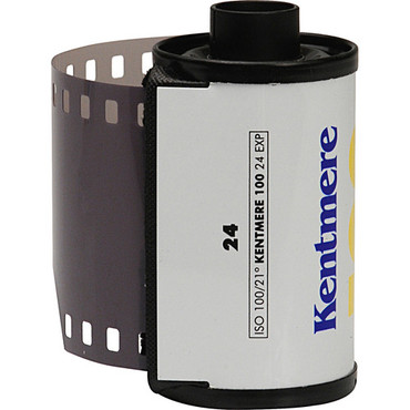 Kentmere Pan 100 Black and White Negative Film (35mm Roll Film, 24 Exposures)