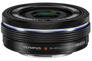 Olympus 14-42mm f3.5-5.6 EZ M.Zuiko Lens (Black)