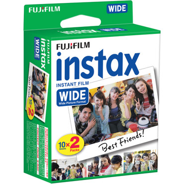 Fuji Instax Wide film 10 Sheets * 2 Pack (20 shots)
