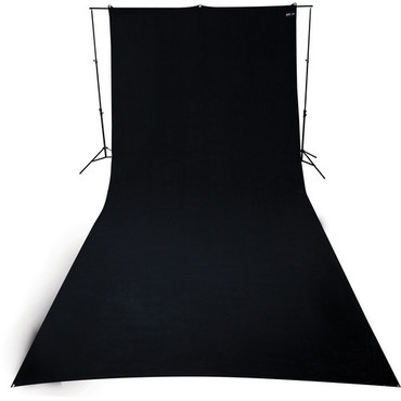 9'X20' Rich Black Wrinkle Resistant, Matte Finish