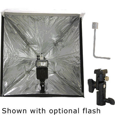 "Westcott Mini Apollo Flash Kit - consists of: 16x16"" (40x40cm) Mini Apollo Softbox, Shoe Mount and ""L"" Bracket"