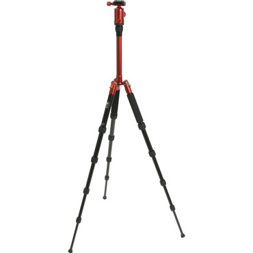 T-005X Aluminum Tripod With C-10 Ball Head (Red)