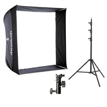 "28"" Apollo Flash Kit #2331 With 8' Light Stand"