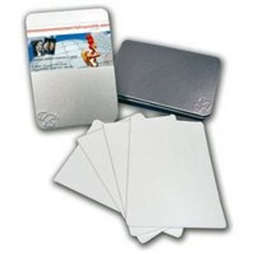 """Hahnemuhle FineArt Photo Rag 308, Bright White Matte Inkjet Photo Cards, 308gsm, 18.9mil., 4x6"""", 30 Sheets in a Tin Box."""