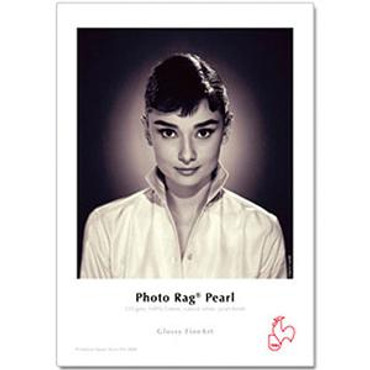 """Hahnemuhle Pearl Photo Rag, 100 % Cotton Rag, Natural White Inkjet Paper, 320 g/mA, 8.5x11"""", 25 Sheets"""