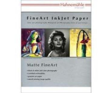 "Hahnemuhle Matte Photo Rag, 310 gsm 100 % Rag, Smooth, Extra Bright White Inkjet Paper, 11x17"", 25 Sheets"